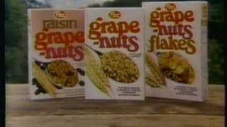 1982 Post Grape Nuts Flakes cereal commercial.