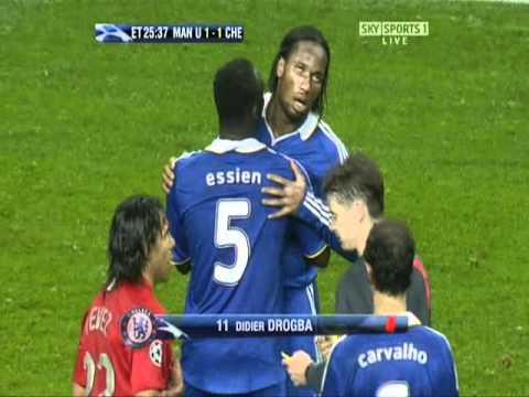 Drogba vs Vidic in Champions League Final 2008
