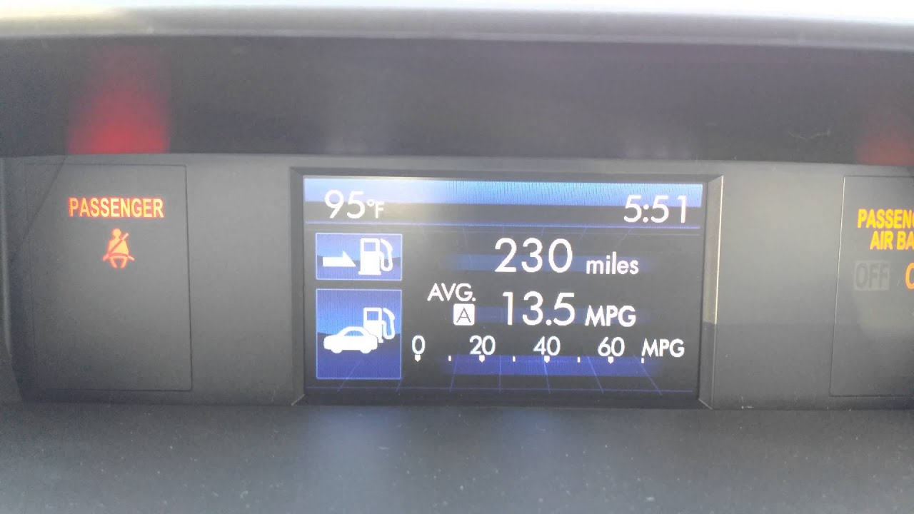 How To Adjust And Control The Mini Display For Subaru Forester