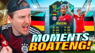 WE GOT HIM! 90 PLAYER MOMENTS BOATENG PLAYER REVIEW! FIFA 21 Ultimate Team