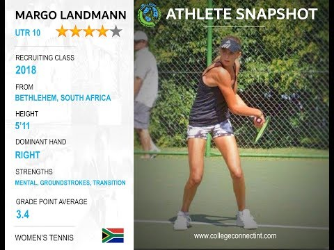 (Committed) Margo Landmann (UTR 10) - South Africa - Spring 2018 W.Tennis Recruit