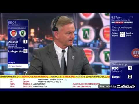 Sky Sports Presenters Reaction To Bravo Red Card Against Barcelona