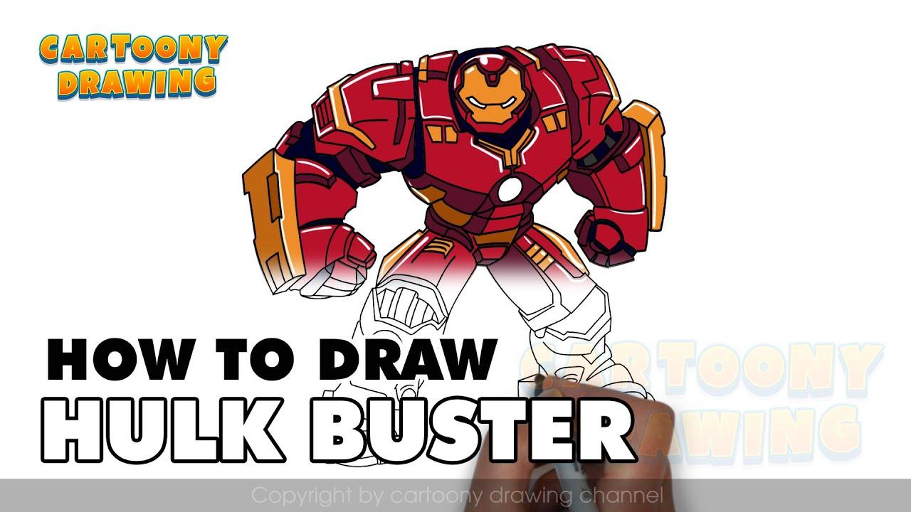 iron man hulk buster how to draw iron man hulk buster in three minutes youtube