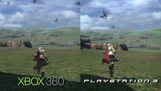 Final Fantasy 13 360/PS3 Comparison HD (720P)
