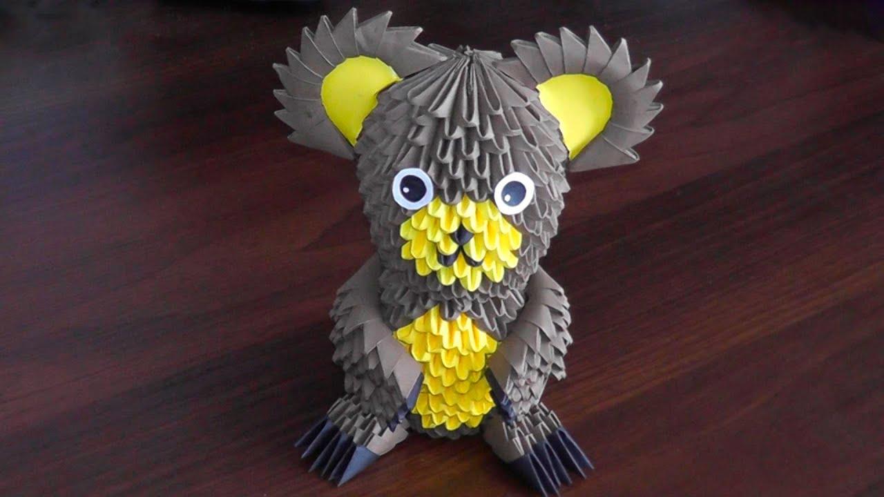 3d origami bear bruin teddy bear grizzly bear assembly diagram 3d origami [ 1280 x 720 Pixel ]