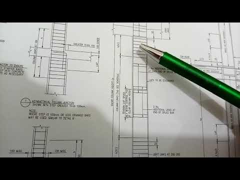 Column steel detail in Drawing dubai