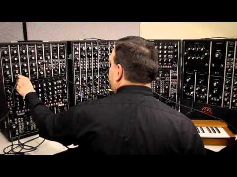1968 Moog modular analog synthesizer test