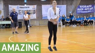 World-renowned jump roping sisters dazzle audience