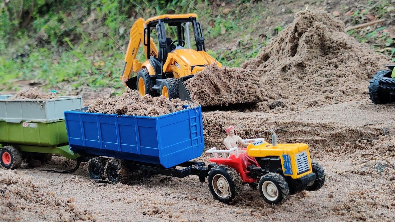 Hmt 4wd Tractor Fully Loaded By Jcb Machine Tractor Jcb Videos Youtube