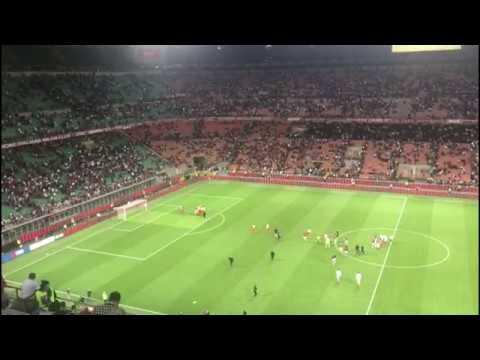 Milan - Benevento [Tifosi giallorossi al San Siro di Milano]