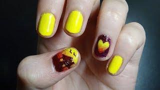 Yellow Sunset Nails // Tutorial kinda