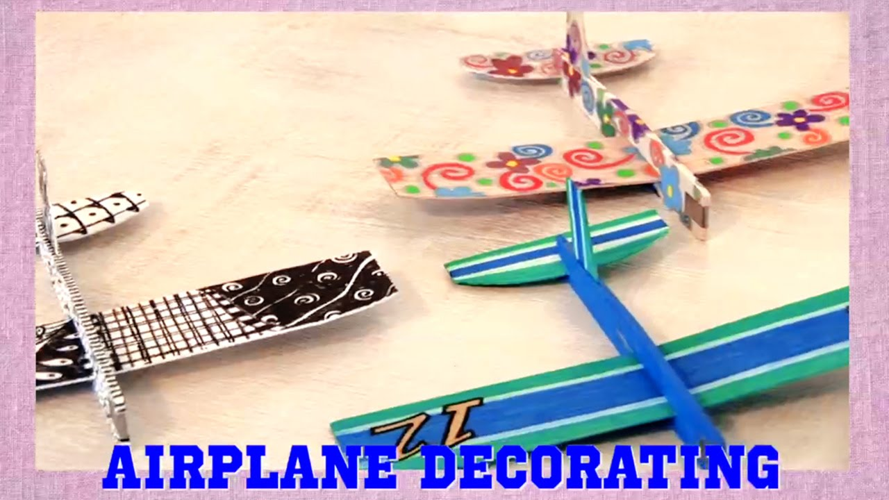 Crafts For Kids Decorate Balsa Wood Airplanes