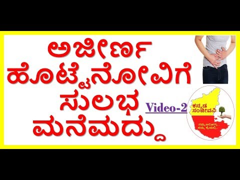 Best Home Remedies for Stomach Pain and Digestion Problem..Kannada Sanjeevani