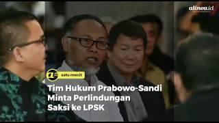 Tim hukum Prabowo-Sandi minta perlindungan saksi ke LPSK