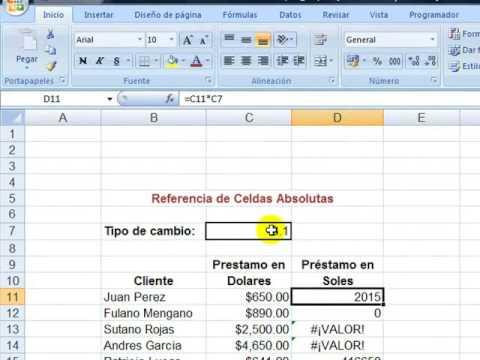 Referencia absoluta en celdas | Excel 2013 Curso Básico #24 ...