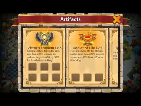 ALL ARTIFACTS Level 5 Full Review Castle Clash