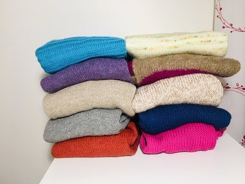 Vlog №14. Новые процессы.Мой вязанный зимний гардероб.