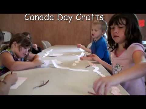 Canada Day Crafts With The Children