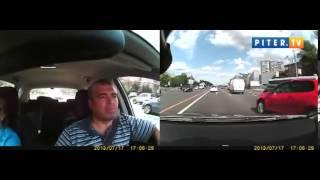 Авария на кутузовском проспекте видеорегистратор