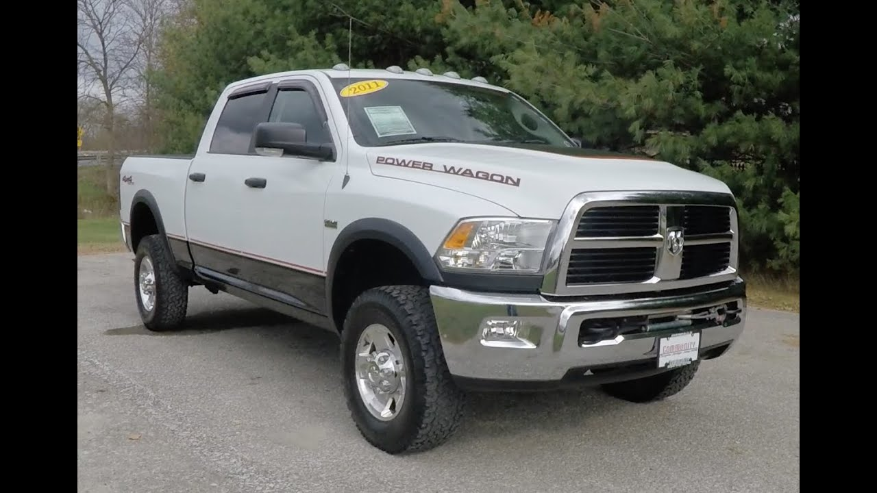 2011 Ram 2500 Power Wagon Crew Cab 4x4 White Martinsville In Dodge For Sale B0250