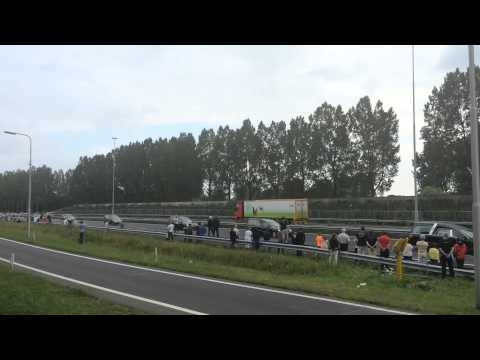 Motorcade of Malaysia Airlines MH17 Victims returning home in the Netherlands.