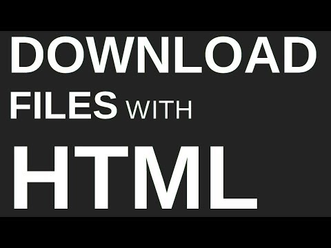 How To Make An HTML Download Button