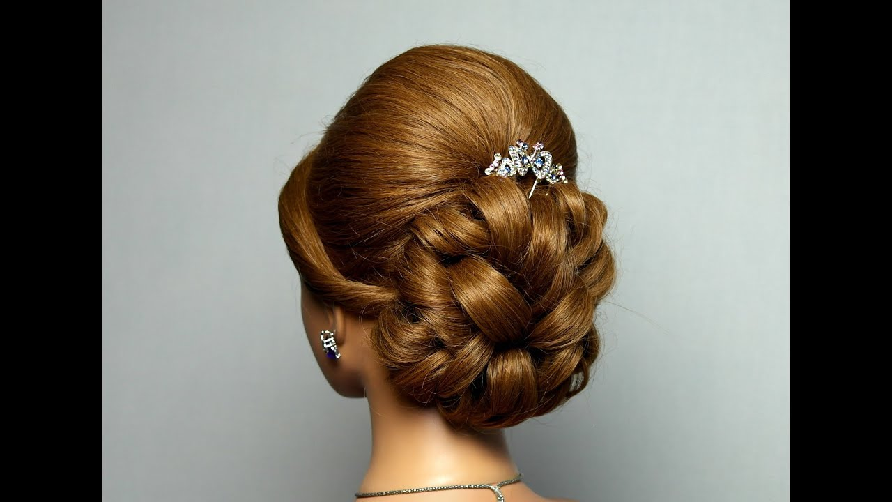 Hair Style Videos Youtube: Wedding Prom Hairstyle For Long Hair. Bridal Updo.