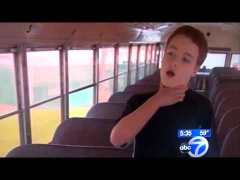 7th Grade Student stops bus as driver has heart attack