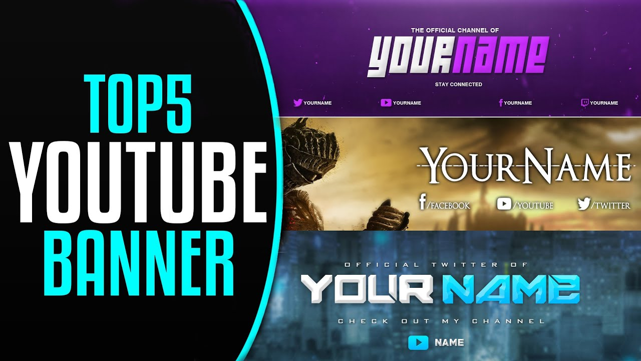 youtube banner templates