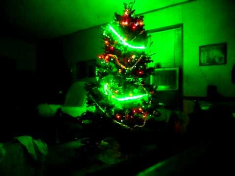 solar powered christmas tree 12 volt dc sylvania mosaic