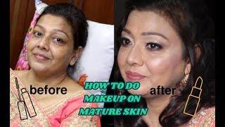 (TEASER) || mature skin makeup || how to do makeup on mature skin || makeup transformation