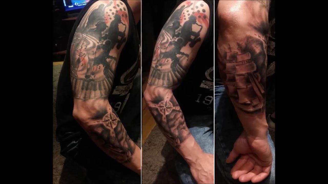 Srbija Tattoo Work Jazz Arm Youtube