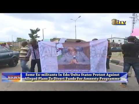 Ex-militants protest over alleged plans to divert fund for a