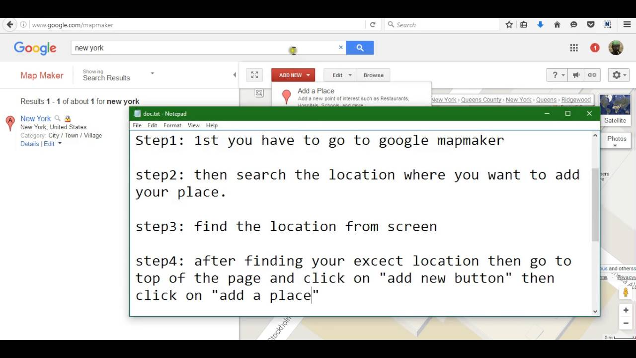 How to add place location business on google maps 2016 youtube how to add place location business on google maps 2016 ccuart Images