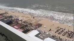 Niederländischer Strand bei Zandvoort überspült/Mini Tsunami in Netherland
