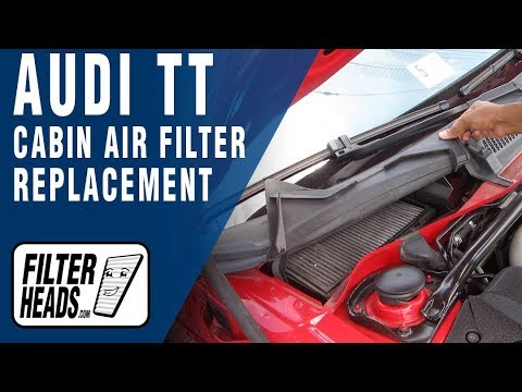 How to Replace Cabin Air Filter Audi TT - YouTube