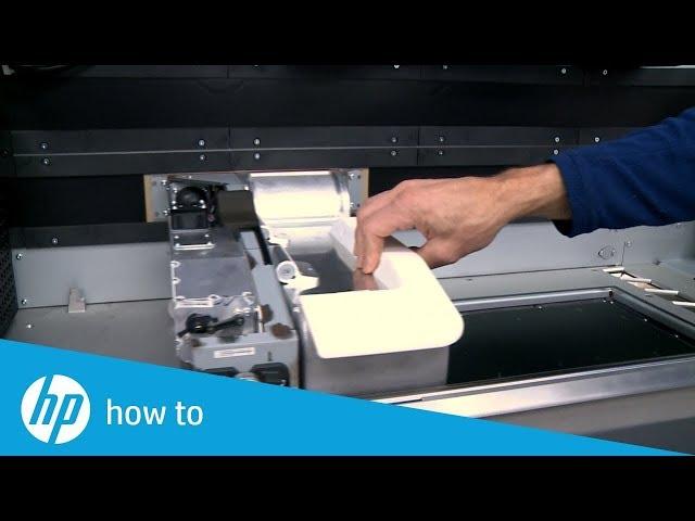 Jak wymienić lampę utrwalającą w drukarkach 3D HP Jet Fusion 300/500