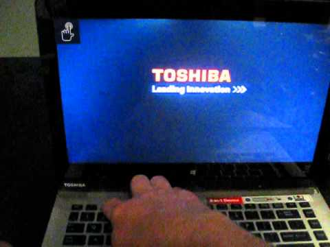how to turn on toshiba laptop without power button