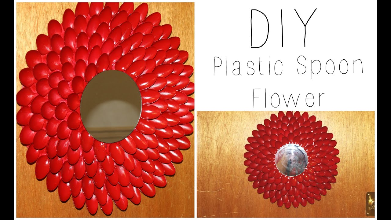 diy plastic spoon flower wall hanging wreath hous