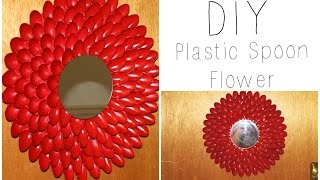 Diy: Plastic Spoon Flower Wall Hanging / Wreath ♡ {house Decor} ♡ Jessica Joaquin