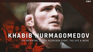 KHABIB NURMAGOMEDOV READY TO FIGHT CONOR MCGREGOR AT ANY TIME