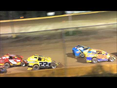 "ANTHONY ""CHOPS"" CHROBAK STAGE 1 MODIFIED HEAT RACE AT HAMLIN SPEEDWAY 9-22-18"