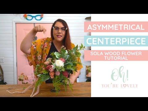 Statement floral arrangement -DIY using sola wood flowers