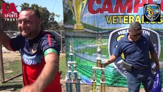Entrega de premios de Veteranos en el Wilmington Soccer Gool League