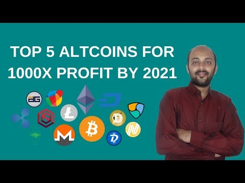 TOP 5 Altcoins For 1000x Profit By 2021