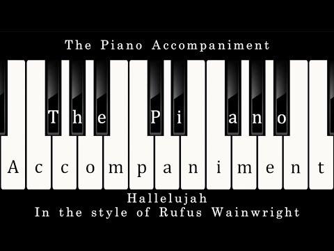 Rufus Wainwright  Hallelujah Piano Karaoke