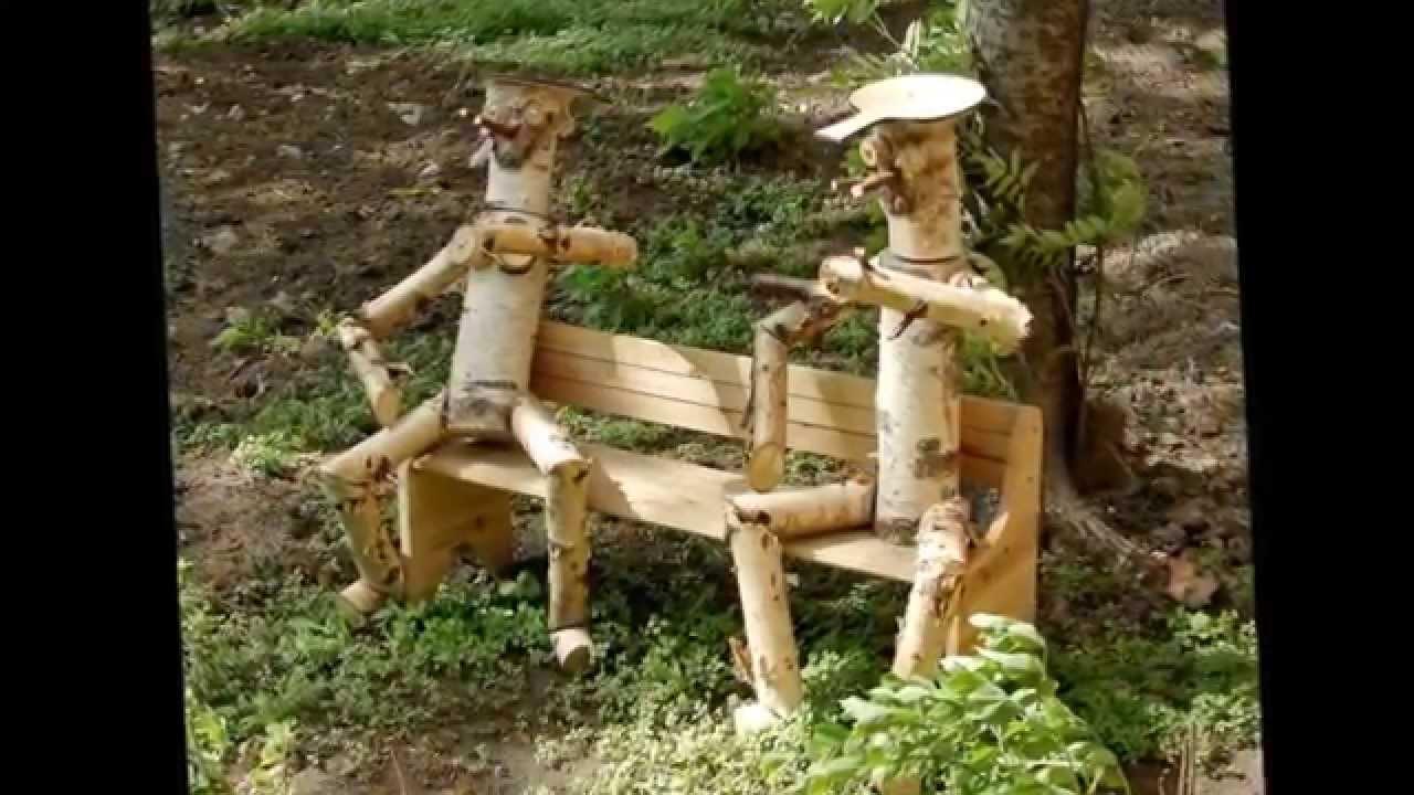 Деревянный человечек для сада своими руками - Моя дача 8