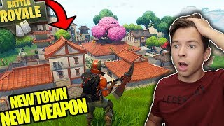 VICTORY ROYALE AT LUCKY LANDING?! NEW TOWN & HUNTING RIFLE WEAPON! FORTNITE BATTLE ROYALE