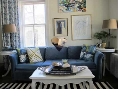 Desain Ruang Tamu Dengan Tema Warna Biru