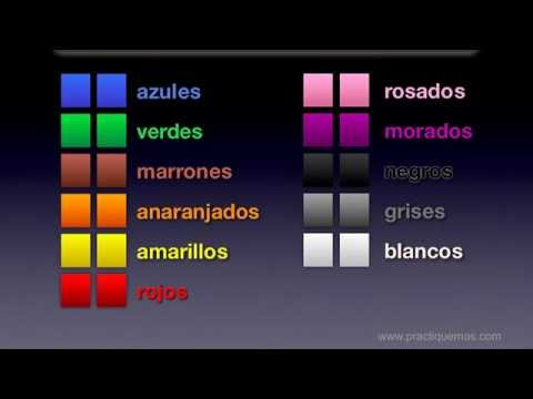Spanish colors 3 tips practice feminine and plural form for Colors in spanish